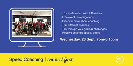 Online Speed Coaching - 15 Minutes With 4 Coaches! tickets