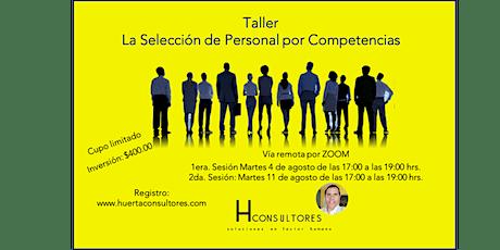 Taller Selección de personal por Competencias entradas