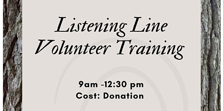 Listening Line Volunteer Training tickets