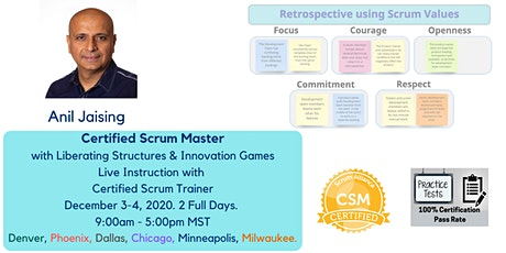 Certified ScrumMaster with Liberating Structures and Innovation Games tickets