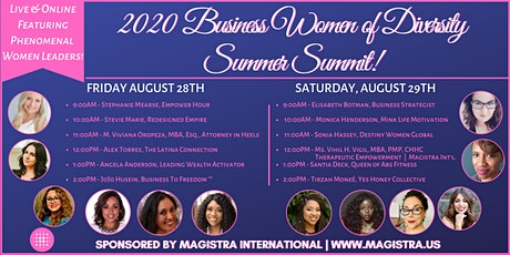 The 2020 Business Women of Diversity Summer Summit! (Online!!) tickets