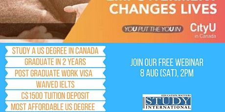 New Normal, New You - Study at CityU Canada! tickets