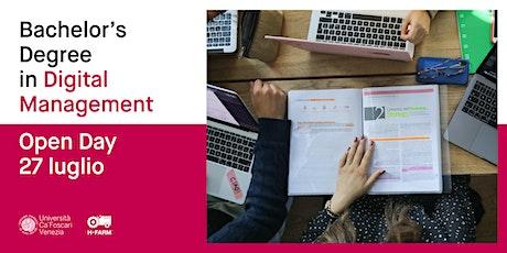 Laurea Triennale in Digital Management - Open Day biglietti