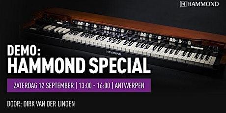 Hammond Special bij Bax Music Antwerpen tickets