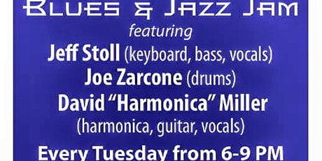 "Blues & Jazz Jam with Jeff Stoll, Joe Zarcone, and David ""Harmonica"" Miller tickets"