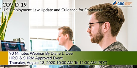 COVID-19 U.S. Employment Law Update and Guidance for Employers tickets
