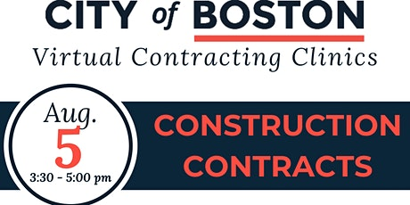 Pathways to City Contracting - Contracting Clinic - Construction tickets