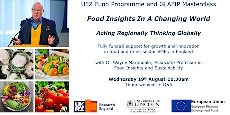 Food Insights In A Changing World - Acting Regionally Thinking Globally tickets