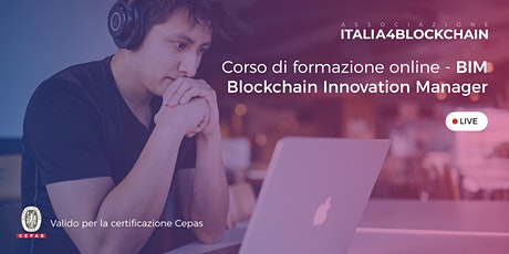 BLOCKCHAIN INNOVATION MANAGER - Digital Edition -2°-3°- 4° - 5° Lezione biglietti