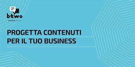 Progetta i contenuti per il tuo business biglietti