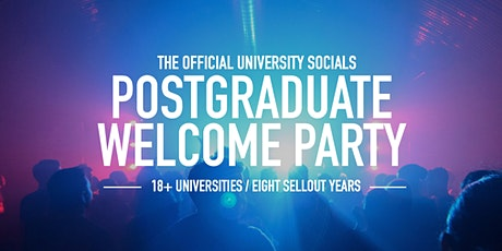 The Official Postgraduate Welcome Party // 2020 tickets