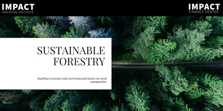 Sustainable Forestry: For Profits tickets