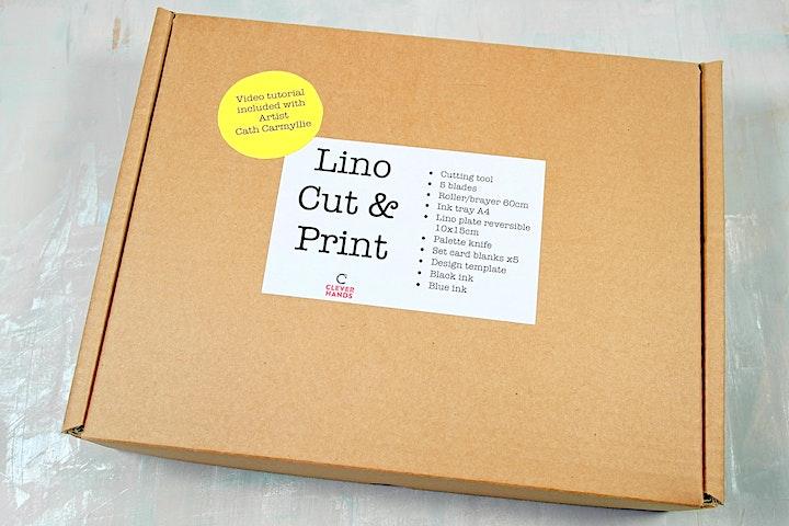 Lino Cut & Print Class - Socially Distanced image