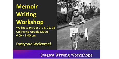 Capture Your Memoirs Writing Workshop - Online! tickets