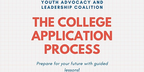 The College Application Process tickets