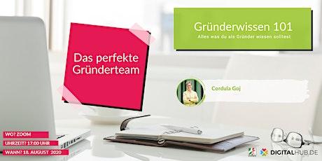 Gründerworkshop - Das perfekte Gründerteam Tickets
