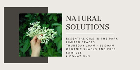 Natural Solutions with Essential Oils in the Park tickets