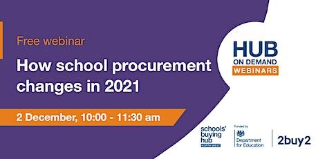 Hub on Demand webinars: How school procurement changes in 2021 tickets