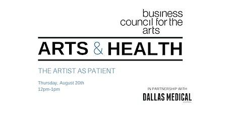 Arts & Health Webinar: The Artist as Patient tickets
