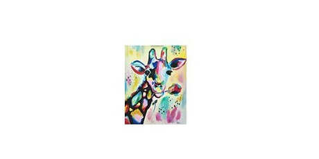Colorful Giraffe| Adult Paint 'n Sip|  $25-$30 tickets