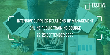 Supplier Relationship Management - Intensive Online Training Course tickets