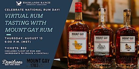 Virtual Rum Tasting with Mount Gay Rum tickets