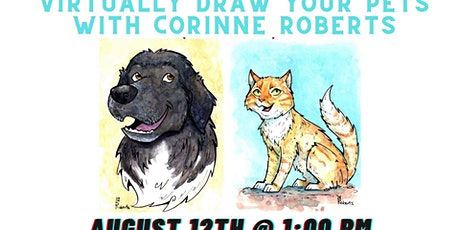 Virtually Draw Your Pets with Corinne Roberts tickets