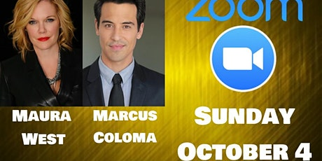 Join Maura West and Marcus Coloma on ZOOM! tickets