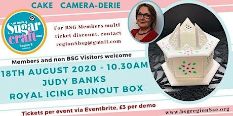 Judy Banks Demonstrating a Royal Icing Runout Box tickets