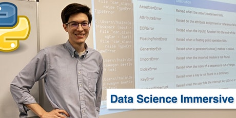 Copy of Python for Data Science Immersive • 1 Week Python Bootcamp tickets
