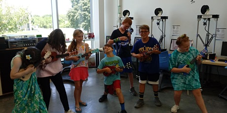 Summer Camp- Fab Lab UKULELE BUILDING- kids, laser cutting and engraving tickets