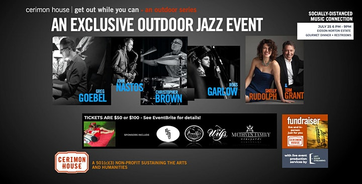 Get Out While You Can - Top Jazz Headliners & Dinner in Wine Country image