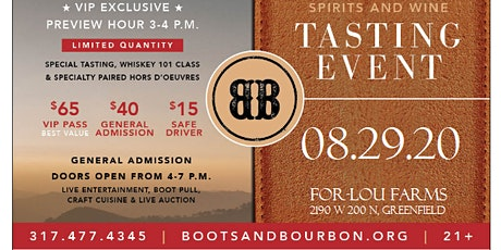 Boots & Bourbon 2020 ~ Bourbon, Spirits and Wine Tasting tickets