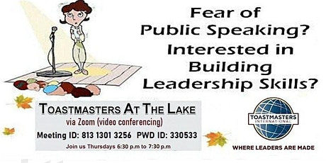 Come and Learn How to Overcome the Fear of Public Speaking tickets