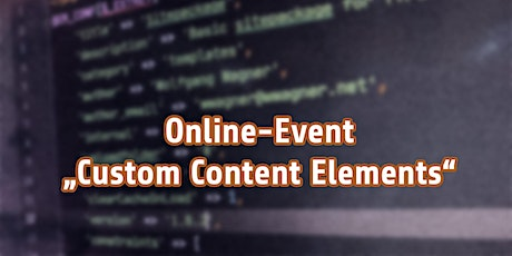 """Zoominar """"Custom Content Elements in TYPO3"""" Tickets"""