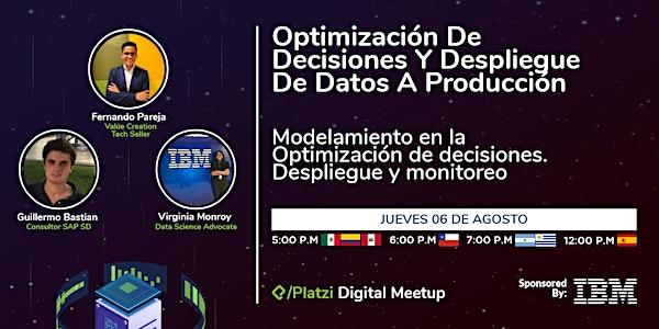 Anuncio de Platzi + IBM del 6 de agosto a las 5 pm