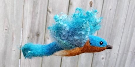 Learn to Needle Felt a Flying Bluebird - Aug 12 tickets