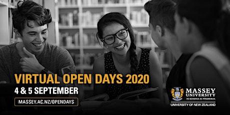 Massey University's Virtual Open Days 2020 & Campus Taster Days tickets