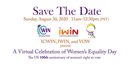 Virtual Celebration of US 100th Anniversary of Women's Equality Day tickets