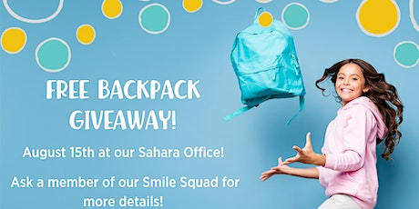 Free Back to School Backpack Giveaway tickets