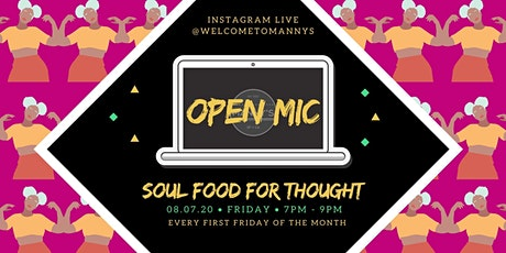 Virtual Soul Food for Thought Open Mic! tickets