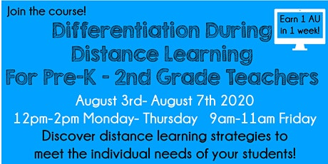 Differentiation during Distance Learning Pre-K - 2 - BCPSS Teachers Only tickets