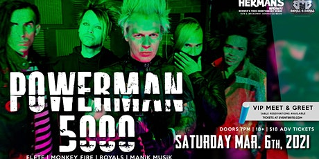 Powerman 5000 Live at Hermans Hideaway (New date is now 3/6/2021 tickets