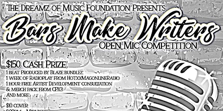 Bars Make Writers: Open Mic Competition tickets