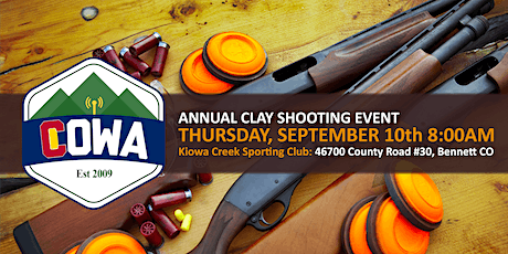 4th Annual COWA Clay Shooting Challenge billets