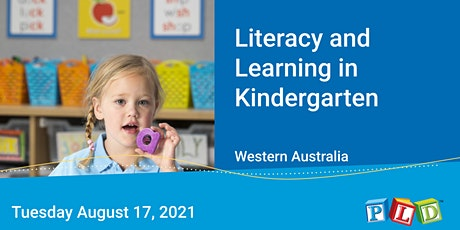 Literacy and Learning in Kindergarten August 2021 tickets