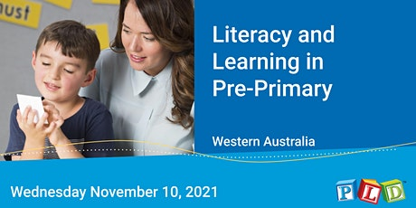 Literacy and Learning in Pre-Primary November 2021 tickets