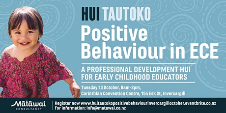 HUI TAUTOKO: Positive Behaviour in ECE Invercargill tickets