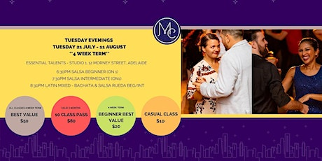 Salsa Classes Adelaide & Social Dancing - Mambo City Adelaide tickets