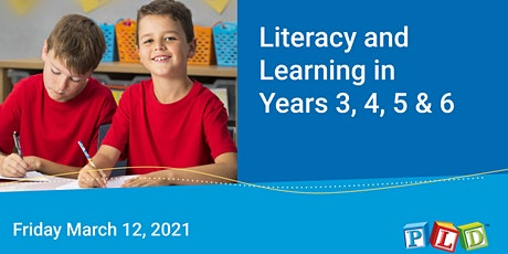 Literacy and Learning in Years 3 to 6 March 2021 tickets